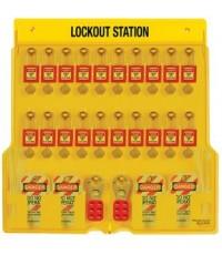 อุปกรณ์ล็อค 20 Pad Lockout Station รุ่น 1484BP410 ยี่ห้อ Masterlock-มาสเตอร์ล็อค