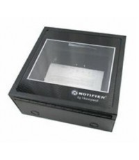 NOTIFIER Annunciator flush backbox. Two modules. Attractive glass door  key lock.model.ABF-2DB