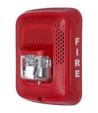 SYSTEMSENSOR Speaker / Strobe, Wall, Selectable Cendela, Red model.SPSRL