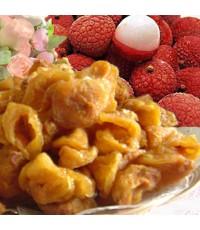 ผลิตภัณฑ์ลิ้นจี่อบแห้งเนื้อหนานุ่ม หอมรสชาติลิ้นจี่  ขนาดบรรจุ 500 กรัม