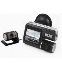 กล้องวิดีโอติดรถยนต์แบบ Dual บันทึก DVR CAM G-เซ็นเซอร์ (กล้อง 2 ตัว) 720P