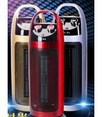 พัดลมความร้อน รีโมทคอนโทรล ปรับความร้อนได้ 2 ระดับ 1200/2000 วัตต์