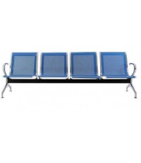 เก้าอี้แถวขาเหล็กชุปโครเมี่ยม 4 ที่นั่ง รุ่น B04