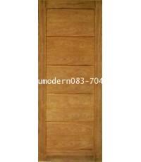 ประตูไม้สักโมเดิร์นหน้า5แผ่น