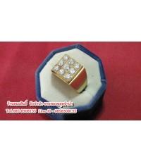 แหวนทองคำ 90 ประดับเพชรแท้