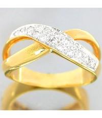 แหวนเพชรทองคำแท้ 0.25 กะรัตทอง 90