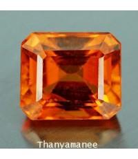 พลอย สเป็กซาไทร์ การ์เน็ต  1.89  กะรัต  จำนวน 1  เม็ด  ไม่เผา/สีส้ม