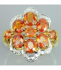 แหวนทองคำแท้ 90 ประดับพลอยทับทิม 3.35 กะรัต  พร้อมเพชรแท้เบลเยียม 0.13 กะรัต สินค้ามีใบรับประกันทางร