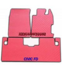 ยางปูพื้นลายกระดุม  CIVIC FD