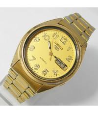 1970s นาฬิกาญี่ปุ่น SEIKO AUTOMATIC 7009 ออโต้หน้าปัดเหลืองเดินดีน่าใช้