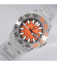 2000s นาฬิกาสิงคโปร์ SEIKO MINI MONSTER ออโต้หน้าปัดส้มเดินดีน่าใช้