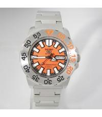 2000s นาฬิกาญี่ปุ่น SEIKO MINI MONSTER ออโต้หน้าปัดส้มเดินดีน่าใช้