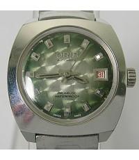 1970s นาฬิกาสวิส ORIS AUTOMATIC ANTI-SHOCK ออโต้ไขลานหน้าปัดเขียวเดินดีน่าใช้