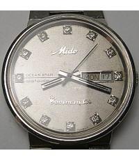 1990 นาฬิกาสวิส MIDO COMMANDER 8479 ออโต้ไขลานหน้าปัดเทาเดินดีน่าใช้