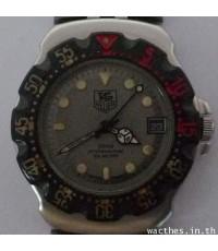 1990s นาฬิกาสวิส TAG-HEUER F1 PROFESSIONAL 200 METER ใช้ถ่านหน้าปัดเทาเดินดีน่าใช้