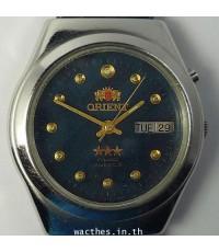 1980s นาฬิกาญี่ปุ่น ORIENT AUTOMATIC ออโต้หน้าปัดน้ำเงินเดินดีน่าใช้