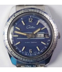 1960s นาฬิกาสวิส CHITEAU DIVER\'S 5ATM ไขลานหน้าปัดน้ำเงินเดินดีน่าใช้