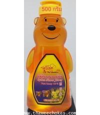 น้ำผึ้งเกสรดอกลิ้นจี่หมี 500 กรัม ขนาด 10x5x18 cm ไม่รวมค่าขนส่ง