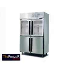 ตู้แช่แข็ง+แช่เย็นตรงสแตนเลส4ประตู THE FREZZER