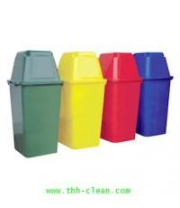 ถังขยะไม่มีล้อ ทรงสี่เหลี่ยม ขนาด 120ลิตร