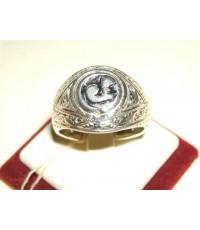 แหวนหัวนะโมใหญ่(หลังหลวงปู่ทวด)ปลุกเสก ทรงมอญแกะลายไทย