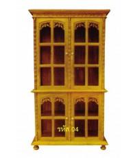ตู้โชว์ไม้สัก แบบประตู 4 บาน