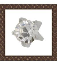 Stainless Steel Studex Ear Piercing Studs Cubic Zirconia Tiffany 3.0 mm