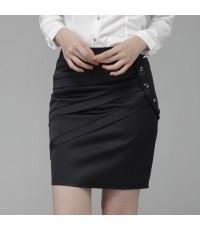 กระโปรง OLแฟชั่นเกาหลีมาใหม่ Size M,L,XL,XXL สีดำ L507
