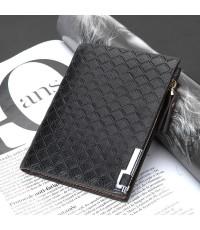 กระเป๋าสตางค์ใบสั้น แนวตั้ง กระเป๋าสตางค์ชาย DBY004-2 สีดำ
