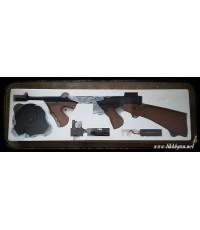 ปืนอัดลมไฟฟ้า ทอมสันชิคาโก้พร้อมแม๊กจาน (พานท้าย ไม้เทียม)