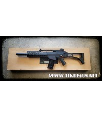ปืนอัดลม ระบบไฟฟ้า รุ่น G36C +ชุดหน้าราง RIS+ท่อเก็บเสียง 6687  จาก  JG