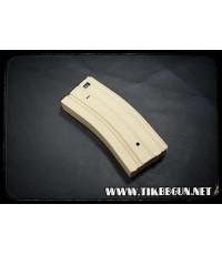 แม๊กสำหรับปืนไฟฟ้า M4 แบบปั่นลาน สีทราย