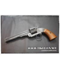 ปืนลูกโม่ คาวบอย Major3 1877  สีดำ ปัดสีเก่า ระบบ Co2
