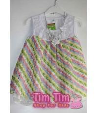 เสื้อผ้าเด็กพร้อมส่ง เป็นชุดเดรสสั้น แขนกุด size 16, 18 และ 20 อายุประมาณ 2-4 ปี