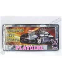 กรอบป้ายทะเบียนรถยนต์ - Play Girl (สีเงิน / ชุบ)