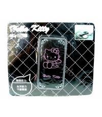 แผ่นลองกันลื่น (วางของหน้าคอนโซลรถยนต์) - Hello Kitty (Kitty..สี่เหลี่ยม/สีดำ)