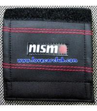 ครอบเบรคมือ - Nismo (หนัง / สีดำ + เย็บตะเข็บ..ด้ายสีแดง)