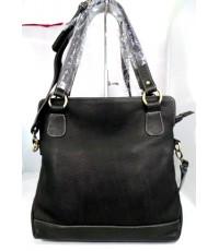 กระเป๋าหนังชามัวร์แท้ idini Leather.U005A สีดำ