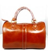 กระเป๋าหนังแท้BX001B  T-Lux51 Brand สีน้ำตาลแทนมีสายยาว ใบใหญ่ หนังCCO