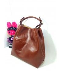 กระเป๋าหนังแท้ Tlux51 Item LB001B สีแทน