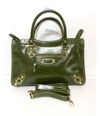 กระเป๋าหนังแท้ Tlux item AP001H   สีเขียวเข้ม
