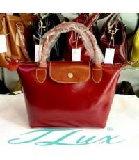 กระเป๋าหนังแท้ Tlux item  NJ01BR  สีแดง+แทน