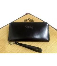 กระเป๋าสตางค์หนังวัวแท้ใบยาว 41 สีดำ CCO