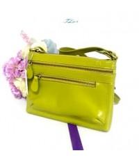 กระเป๋าหนังแท้  Tlux item GE001LM สีมะนาว