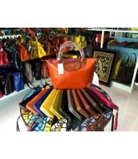 กระเป๋าหนังแท้ Tlux item NQ001L + กระเป๋าสตางค์ 41 สีส้ม