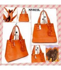 กระเป๋าหนังแท้  Tlux item NV022 สีส้ม