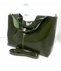 กระเป๋าหนังแท้ Tlux item LK001  สีเขียว
