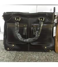 กระเป๋าหนังแท้ Tlux item PA00A สีดำ