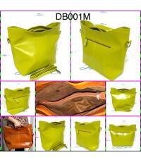 กระเป๋าหนังแท้ tlux Item DB001M  สีเขียวมะนาว