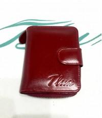 กระเป๋าสตางค์หนังแท้ tlux Item 47 สีแดง
